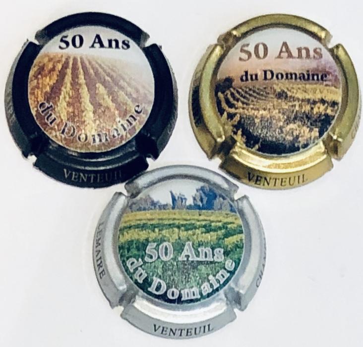 3 capsules DOURY Philippe 2 CV numérotées 120