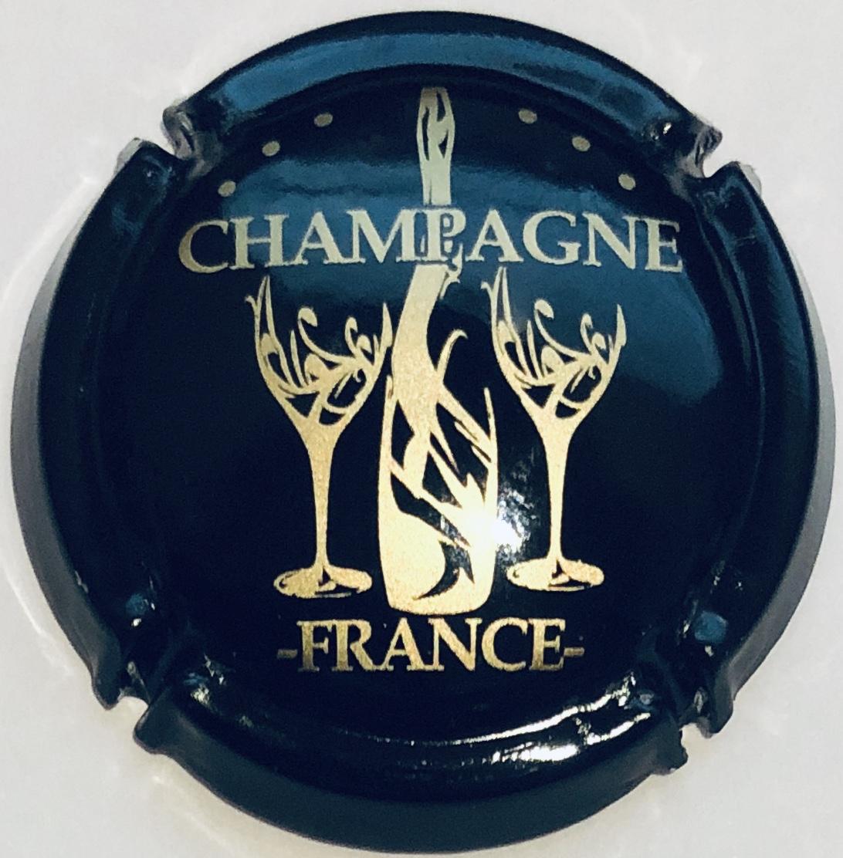Capsule de Champagne MARC 5a. rouge métallisé noir et blanc